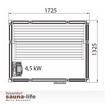 saunakabine impression large. Black Bedroom Furniture Sets. Home Design Ideas