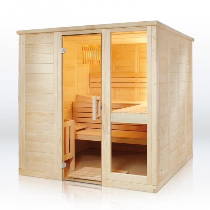 saunakabine komfort large. Black Bedroom Furniture Sets. Home Design Ideas