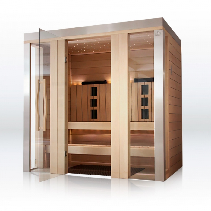 sauna infrarotkabine dsa erle. Black Bedroom Furniture Sets. Home Design Ideas