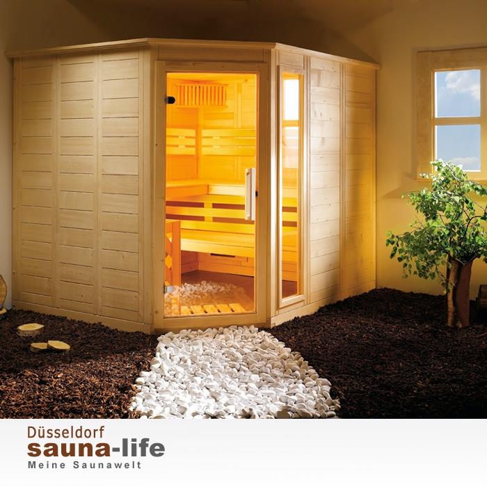 saunakabine komfort corner large links. Black Bedroom Furniture Sets. Home Design Ideas