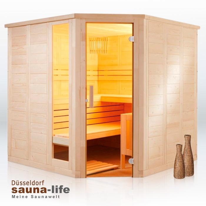 saunakabine komfort corner large rechts. Black Bedroom Furniture Sets. Home Design Ideas