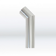 Angle pipe 45°, stainless steel
