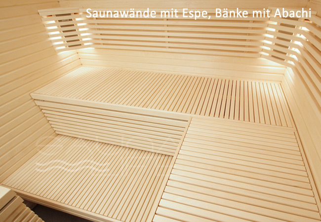 abachi holz sauna. Black Bedroom Furniture Sets. Home Design Ideas